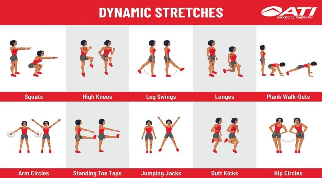 stretches as part of your warm-up